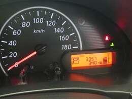 見やすいスピードメーター部分