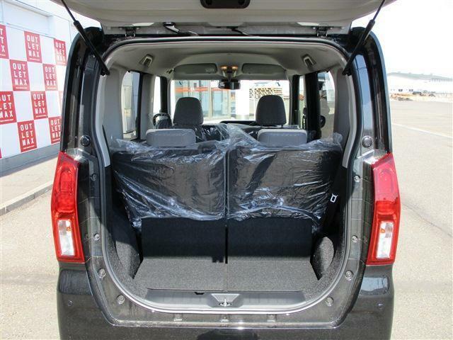 荷物を積めるスペースがあります。