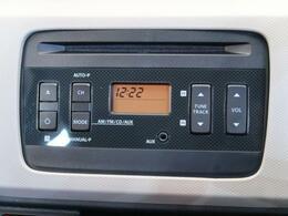 純正オーディオ】メーカー純正オーディオ搭載。CD再生、AM/FMラジオが使えるオーディオです。AUX接続もオススメ!イヤホンで利くオーディオなら何でもつなげられます♪