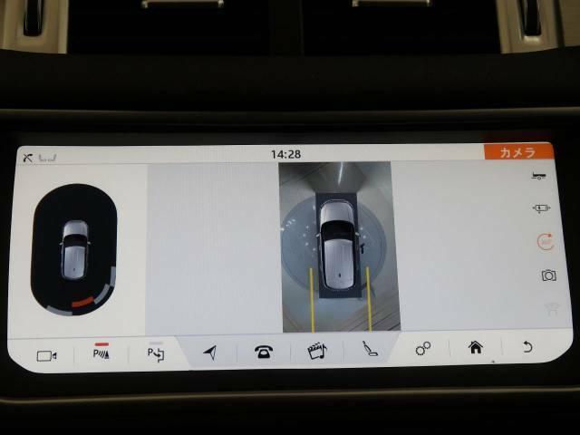 360度カメラを搭載しており、車載のカメラを駆使し、車を真上から見下ろしている映像に変換、センターディスプレイに表示させ、安全な駐車をサポート。縦列駐車や狭い場所への駐車に大きく役立ちます。