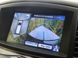 【アラウンドビューモニター】上から見下ろしたような視点で車の周囲を確認することができます☆縦列駐車や幅寄せ等でも大活躍です!!
