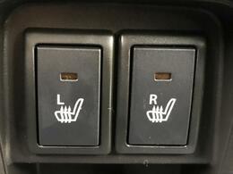 【運転席・助手席シートヒーター】スイッチをいれると、シート自体が暖かくなる機能です。「暖房は体調崩すからちょっと・・・」という方にもお勧めです。
