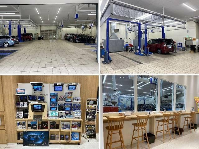 大型の認証工場を保有しており、車検から日常点検まで安心してお任せいただける環境を整えております。待合スペースでは、愛車の整備風景をご覧いただく事も可能です♪