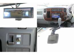 HDDナビ 地デジフルセグTV DVD再生 音楽録音 Bluetooth ドライブレコーダー ミラー型常時バックカメラ メインサブ切り替えスイッチ