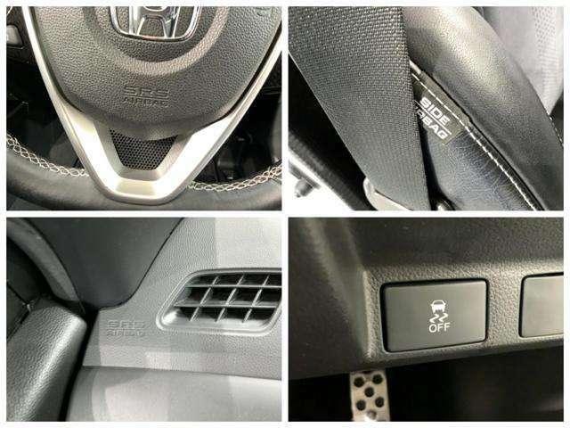 運転席、助手席エアバックはもちろんの事、サイドエアバックや横滑り防止機能も装備しています。