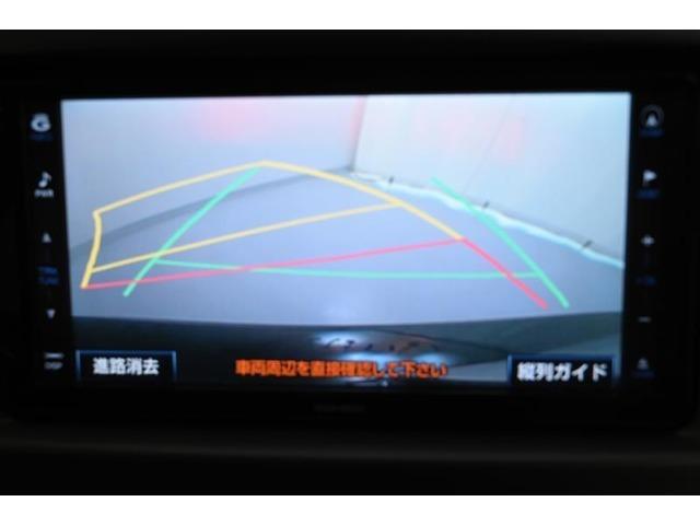 バックモニター  後退時、ナビ画面に車両後方の様子を表示し、車庫入れや縦列駐車のサポートをします!