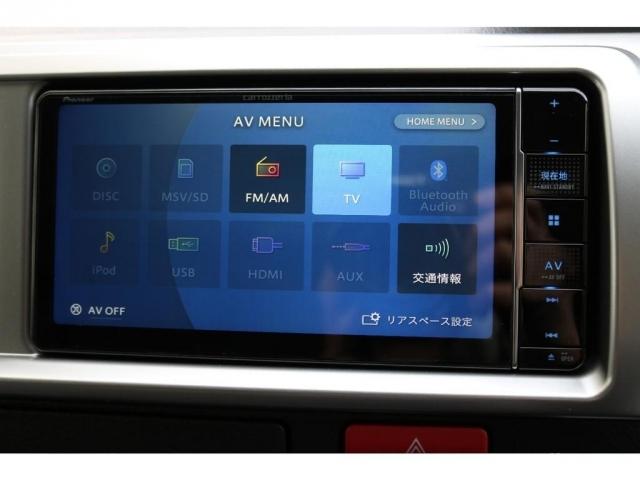 現行のカロッツェリア製SDナビ装着済み!Bluetoothは勿論、フルセグ、ハンズフリー電話可能です!