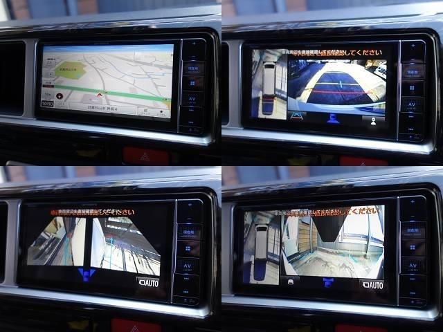 パノラミックビューモニターの映像は配線加工済みなのでナビ画面でも確認できます♪