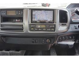 AAC PS PW SRS ABS 集中ドアロック 左電格ミラー 社外メモリーナビ/DVD ETC バックモニター ターボ 排気ブレーキ HSA フォグランプ 室内蛍光灯