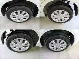 四輪タイヤ&ホイール。タイヤは4輪共、溝は残ってます。
