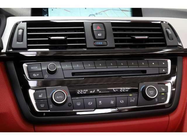 表示はデジタル 操作はアナログの空調操作。運転中でも直感的に操作が可能で御座います。