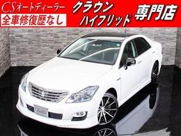 トヨタ クラウンハイブリッド 3.5 黒本革/エアシート/フルエアロ/NEW20AW/HDD