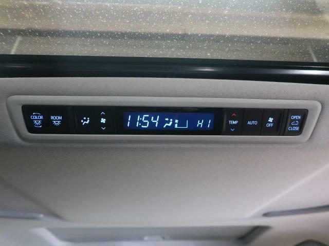 【ダブルエアコン】1列目と2列目でそれぞれお好みの温度設定が可能で全席にも最適な空調をお届け致します。