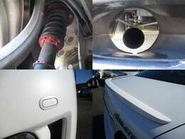 BLITZ車高調 社外マフラー リアスポ コーナーセンサー