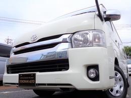 トヨタ ハイエース 2.7 GL ロング ミドルルーフ 4WD 4型6AT1オーナナビTV電動ドア電動ステップ