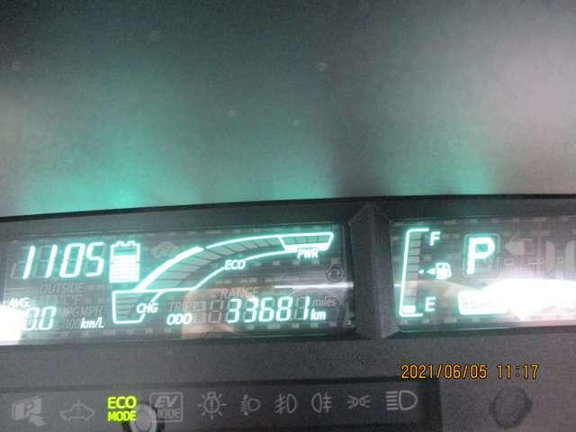 走行距離が33.681kmと少なく良質