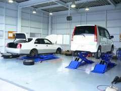店舗西側に認証整備工場を新設!車検、整備等もおまかせください、迅速に対応いたします。