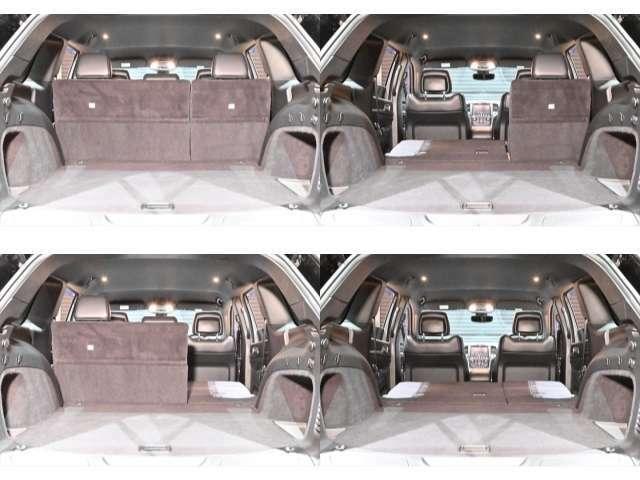 ラゲッジスペースも広々しておりますので使い勝手に分けてシート調整が可能でございます♪