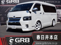 トヨタ ハイエース 2.7 GL ロング ミドルルーフ 1オナ メモリナビ 天吊モニタ  RAYS18inAW