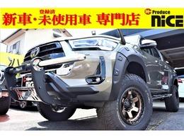 トヨタ ハイラックス 2.4 Z ディーゼルターボ 4WD FUEL17AW 2.5inchUP グリルガード トノカバ