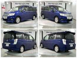 純正HDDナビ 純正AW HID装備の紺色のステップワゴンスパーダ S入庫しました。
