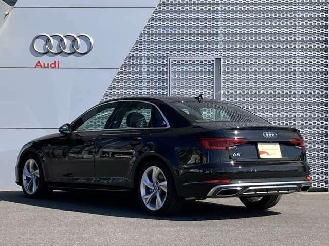 「Audi認定中古車延長保証」もご用意しております。有償にて更に1年延長することの出来る制度です。詳しくは販売店スタッフまでお気軽にお問い合わせください TEL04-7133-8000 担当 :布施 / 佐藤