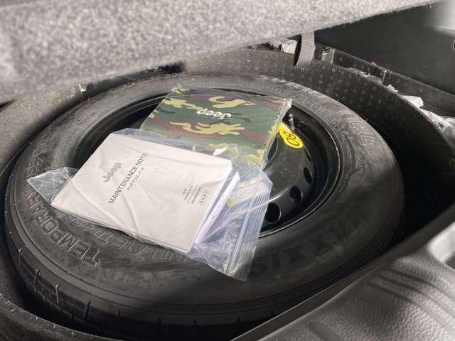 ラゲッジスペース床下にはフルサイズスペアタイヤを完備!